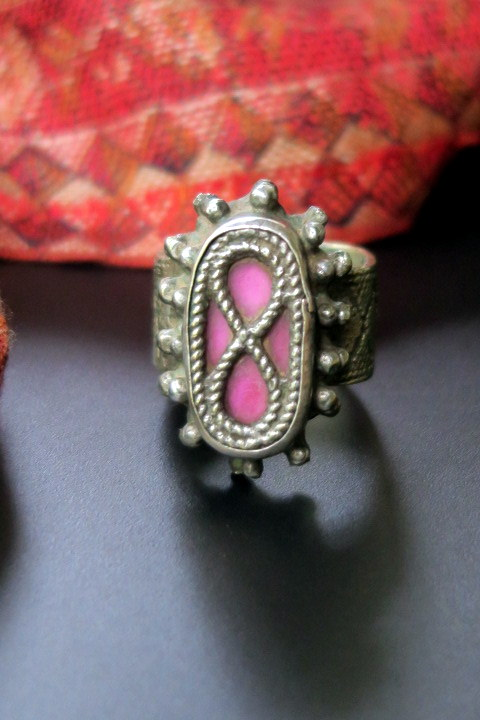 Vintage Tribal Jewelry Ring From Central Asia