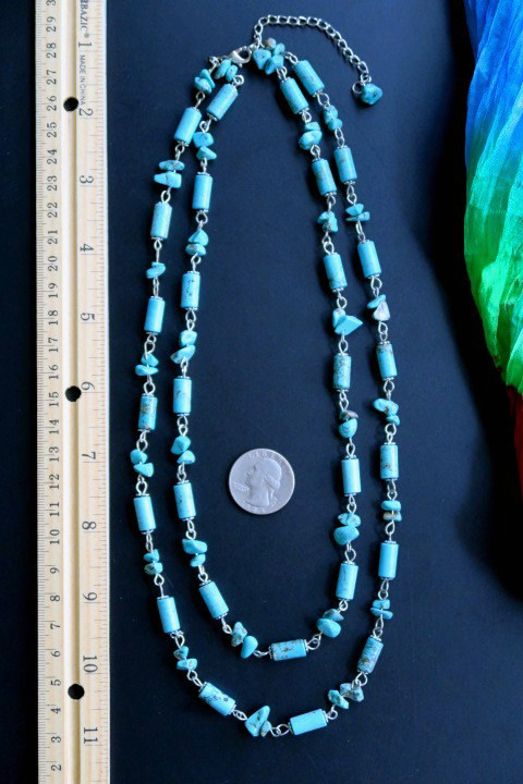 10 Kitchen And Home Decor Items Every 20 Something Needs: Ethnic Necklace With Double Strands Of Turquoise Beads
