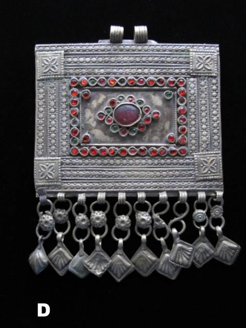 Tribal jewelry vintage kuchi rectangular pendant assortment tribal jewelry kuchi pendant rectangular aloadofball Images