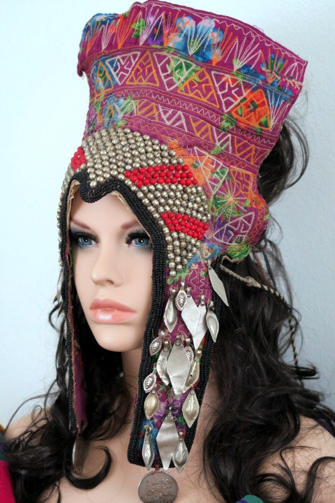 Vintage Turkmen Tribal Jewelry Headpiece