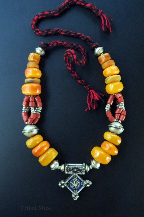 Large Moroccan Berber Tribal Jewellery Necklace