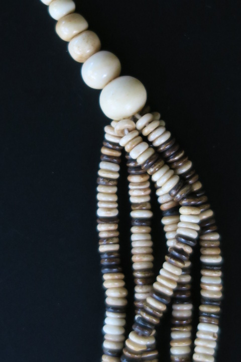 Multi Strand African Jewelry Bone Necklace