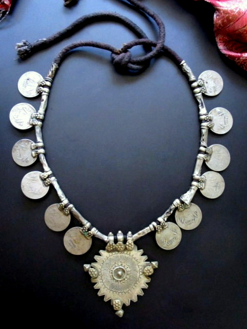 Vintage Banjara Gypsy Tribal Coin Necklace