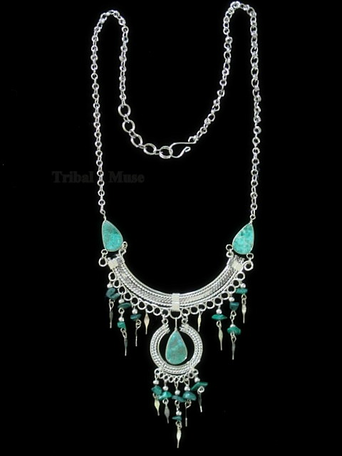 image loading mottled turquoise chain is with s and stones itm glass alpaca necklace in peruvian silver