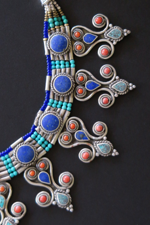 Contemporary Tibetan Jewelry Tribal Necklace From Nepal