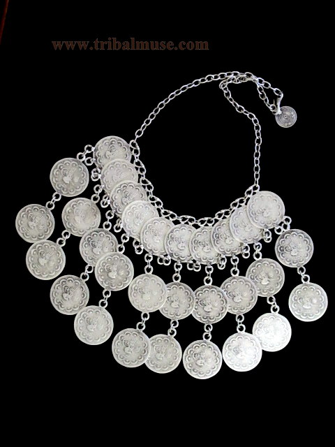 Exotic Turkish Tribal Coin Necklace