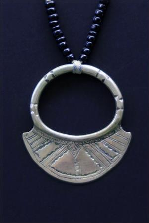 Vintage african tuareg silver full moon necklace collectible vintage african jewelry silver tuareg pendant mozeypictures Images
