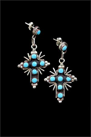 Brenda Begay Indian Earrings