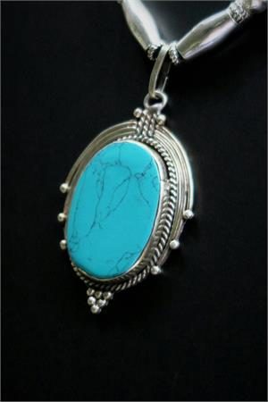 Turquoise ethnic necklace