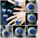 Set A Lapis Afghan Rings