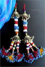 Old Balochi tassels pair