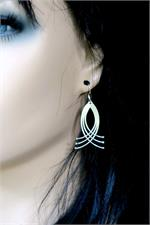 Swirling silver dangle earrings
