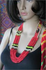 Red ethnic necklace