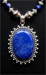 Close up of Lapis pendant