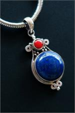 Close up Lapis Pendant