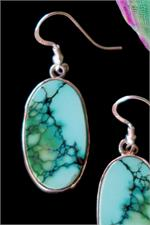 Close up Turquoise earrings