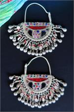 Kuchi crescent earrings
