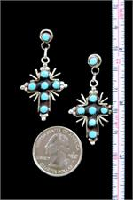 Navajo Earrings with Ruler