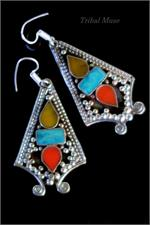 Tibetan earrings from Nepal