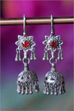 Silver Sindhi dangle earrings