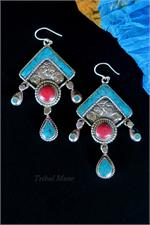 Tibetan-style earrings