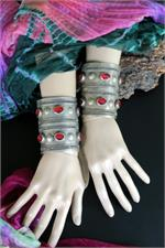 Turkoman cuffs on manikin