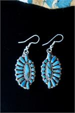Large Zuni Turquoise Earrings