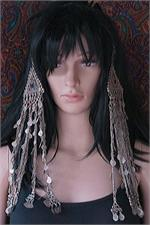 Old tribal jewelry hair pendants