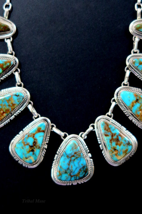 Native American Indian Jewelry Navajo Turquoise Necklace