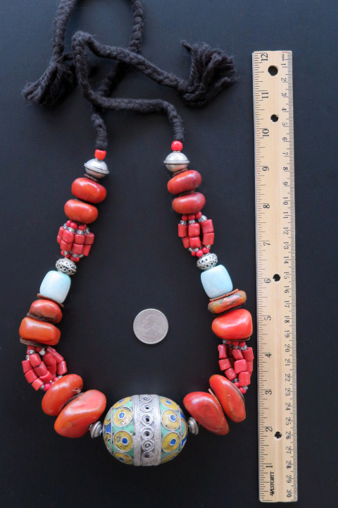 Old Moroccan style beads Necklace