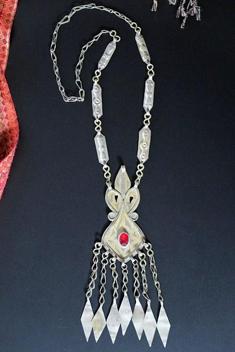 turkman style tribal necklace-870