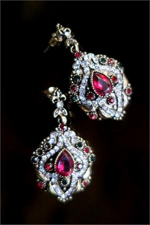 Colorful Bollywood earrings