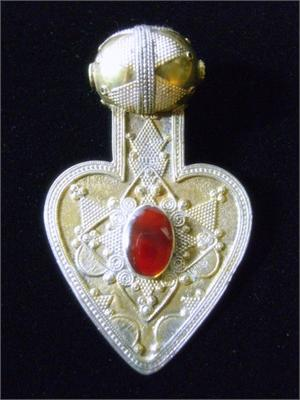 Silver and Carnelian