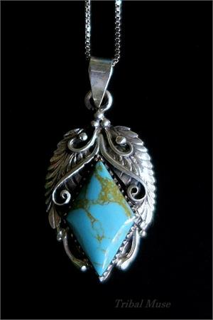 Ornate turquoise necklace