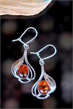 Amber and Sterling Silver