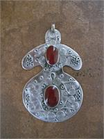 Fine Silver and Carnelian