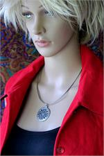 Tibetan necklace on manikin