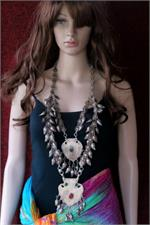 Kashmir necklace on manikin