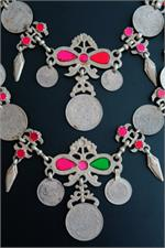 Close up tribal necklace