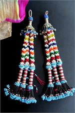 Kuchi tribal tassels Pair
