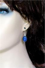 Lapis earrings on manikin