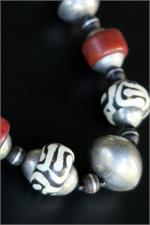 Large African Beads Close