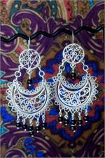 Oaxaca silver earrings