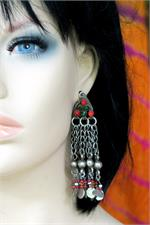 Tribal earrings on manikin