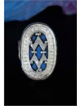 Kazakh Blue Tribal Ring