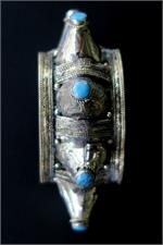 Turquoise Agate Spike Cuff