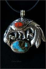 Close up Tibetan pendant