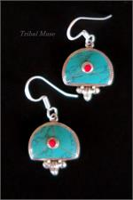 Tibetan jewelry earrings