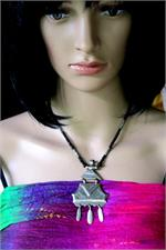 Silver Tuareg pendant necklace