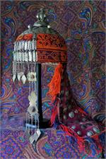 Side view Turkmen headpiece
